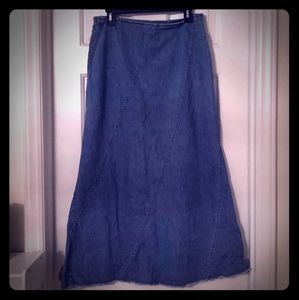 Liz Claiborne Denim Maxi Skirt